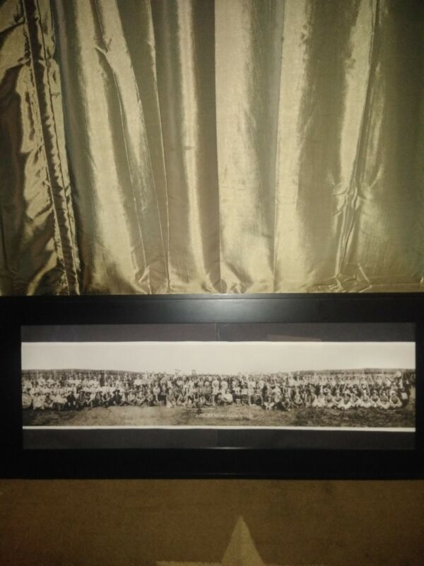101 Ranch 1913 Framed picture 41x17  by GE Palfrey Copy Used ships USPS priority