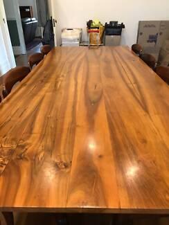 Large Walnut Dining Table, seats 8