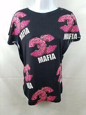 Cupcake Womens Pink T-shirt (Cupcake Mafia Limited Edition Womens Medium Black T Shirt Top Pink Donuts)