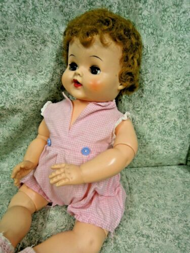 """LC-1237   BABY DOLL 19"""" tall; no markings or labels; rubber/vinyl;sleep eyes"""