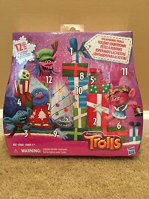 Dreamworks Trolls Holiday Calendar Countdown 12 Days Advent