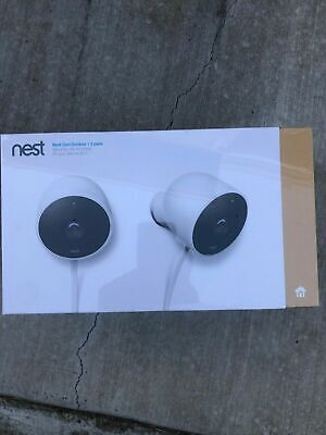 Brand Nest Cam Outdoor Security Camera (2-Pack) NC2400ES NEW
