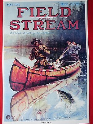 Field & Stream Magazine Cover Poster May 1915 Artist Goodwin, Mayer, Stick?