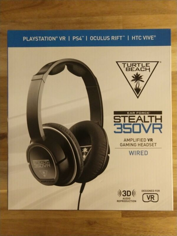 Turtle Beach Ear Force Stealth 350VR Wired Gaming Headset for PlayStation VR and PlayStation 4 Black TBS-3150-01
