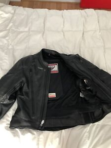 Men's First Gear Leather Motorcycle Jacket