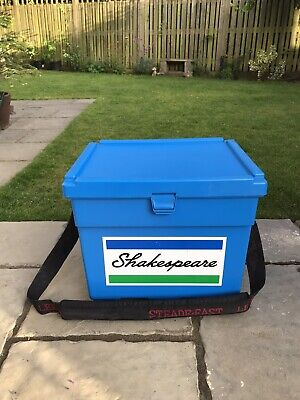 Shakespeare fishing seat box with tray and bait boxes