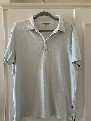 JOHN VARVATOS Grey Men T-shirt With Collar, Tee, Top, L