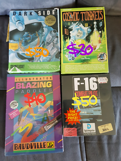Sealed unopened commodore 64 games