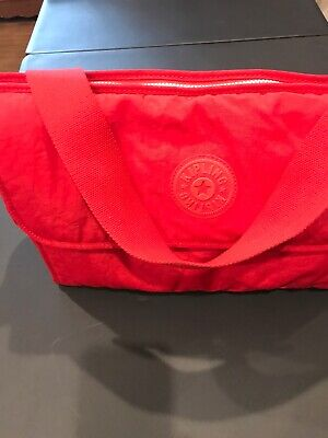 Red Kipling Baby Diaper Bag With Changing Pad