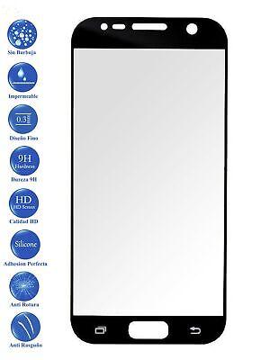 Protector de Cristal Templado Vidrio Completo 3D para Samsung Galaxy S7 Negro