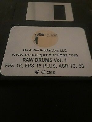 "Ensoniq ASR 10, ASR 88, EPS 16, EPS 16 PLUS:  Drum Sound Kit  titled ""Raw Drums"" for sale  Shipping to Canada"
