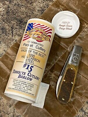 Great Eastern Cutlery #15 TC Barlow Rough Sawn Osage Wood Tidioute GEC 152121