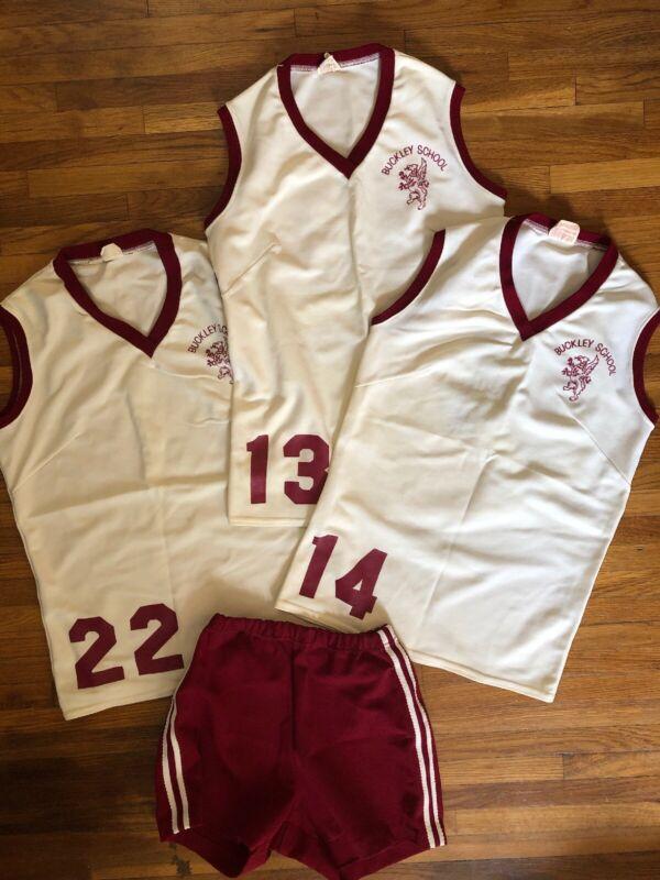 The Buckley School Vtg Basketball Volleyball PE Uniforms Jersey Women's M/L 28