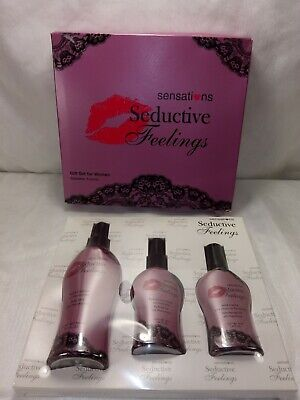 SENSATIONS SEDUCTIVE FEELINGS 3 PIECE PHEROMONE SPRAY FOR WOMEN FREE SHIPPING for sale  Shipping to India