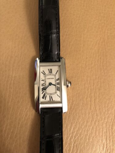 $3400.00 - Cartier Tank Americaine in White Gold