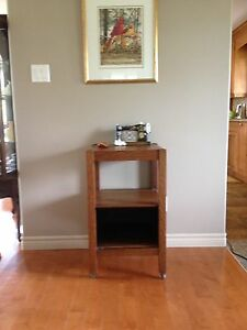 Vintage Oak Table or Night Stand