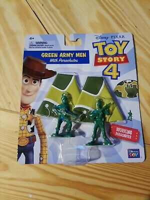 DISNEY PIXAR Toy Story 4 Movie Green Army Men With Working Parachutes New 2