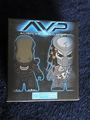 Alien Vs. Predator Figure, Loot Crate Exclusive Blind Box + AVP pin!