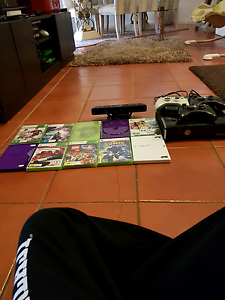 Xbox 360 with three controllers,10 games and kinect Roxburgh Park Hume Area Preview