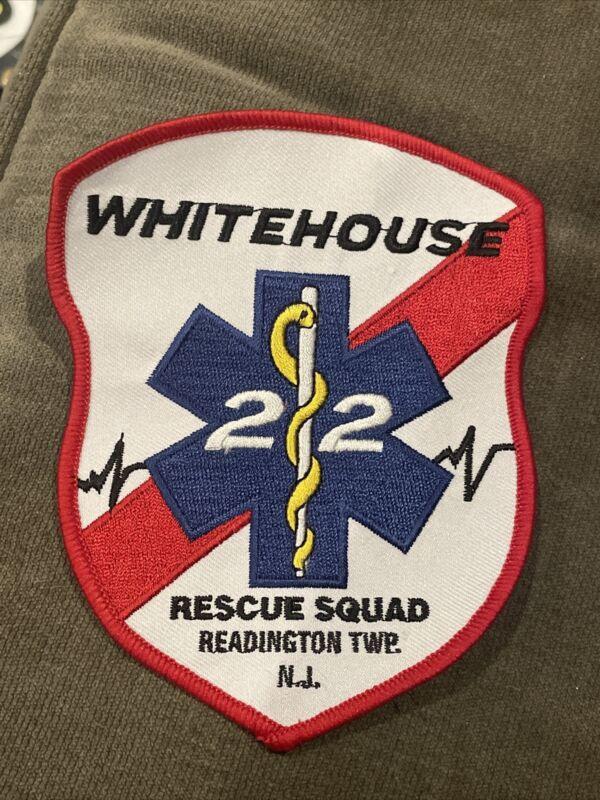 "Whitehouse Readington New Jersey NJ  EMT Rescue Squad Patch Sew On 4"" Rare Logo"