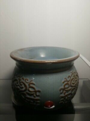 Yankee Candle Electric Tart Wax Melts Warmer Antique Blue EUC Tested/WORKS