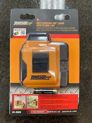 Johnson 360 Degree Self Leveling Laser W Plumb Line Model 40-6606
