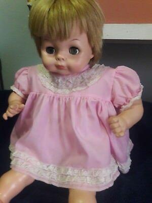 """24"""" VINTAGE VINYL & CLOTH BABY DOLL, BABY DEAR - VOGUE 1965"""
