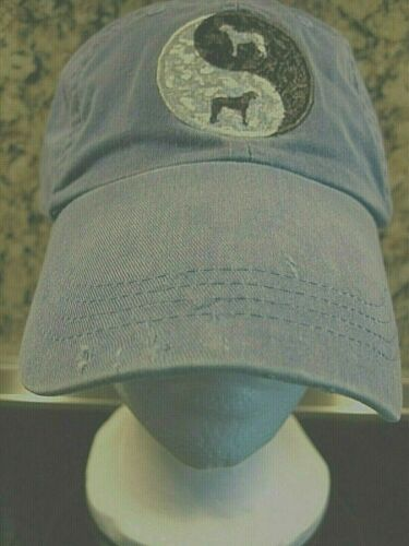 Irish Wolfhound Hat Cap BLUE with an Ebroidered Yin Yang IW on Front