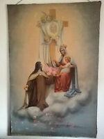 Olio Su Tela Con Madonna - Arte Sacra Primi Del 900 Cm 180 X 120 -  - ebay.it