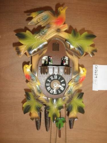 Cuckoo Clock German Black Forest working SEE VIDEO Musical  1 Day CK2629