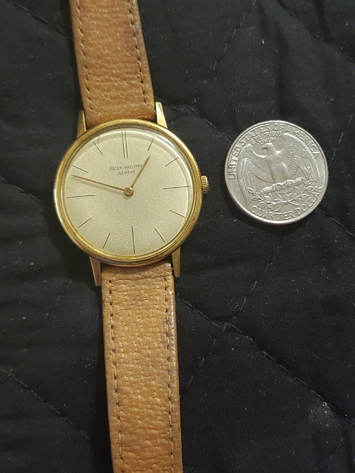 Patek Philippe 18K (case only)Yellow Gold Manual Wind Watch Ref#2592-1(works) - watch picture 1