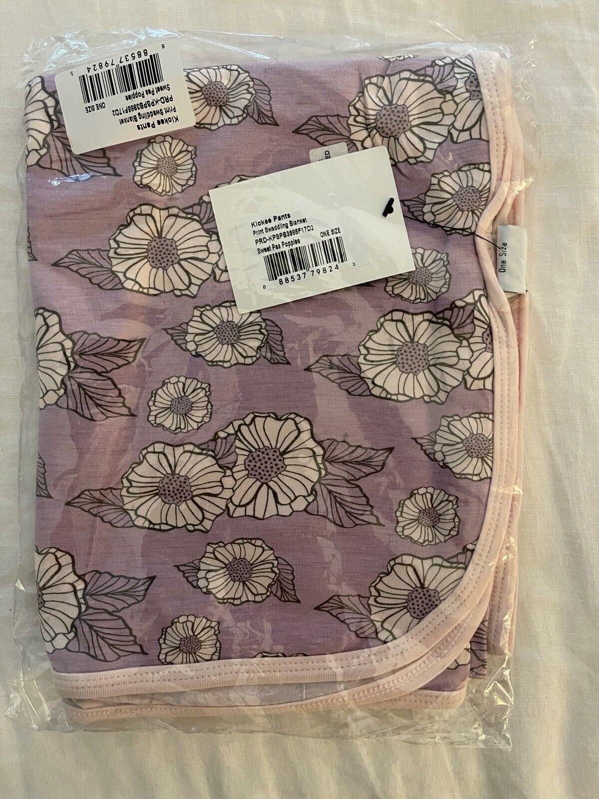 NEW Kickee Pants Sweet Pea Poppies Swaddle Blanket - $12.00