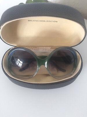 Balenciaga Sonnenbrille/ shades/ sun glasses blau grün/ blue green