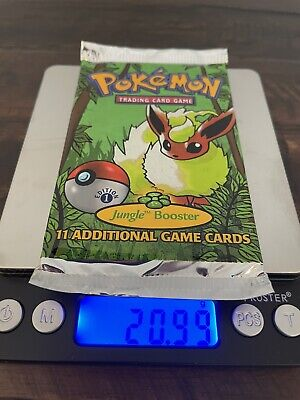 1999 Pokemon 1st Edition Jungle Booster Pack Flareon Art (20.99g Factory Sealed)