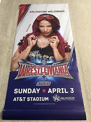 Sasha Banks Street Banner of WWE Wrestlemania 32 Arlington Texas AT&T Stadium - Wwe Banner