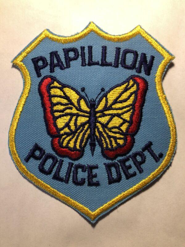RARE ~ Vintage Papillion Nebraska Police Patch