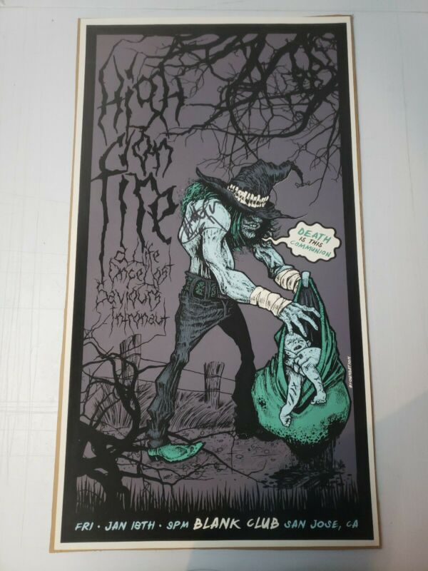 High On Fire RARE silkscreen poster signed by Matt Pike