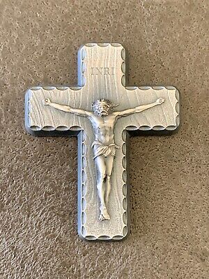 22mm x 40mm Solid 925 Sterling Silver Antiqued-Style INRI Crucifix Cross Pendant