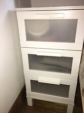 IKEA bedside table small chest of 3 drawers white Coburg Moreland Area Preview