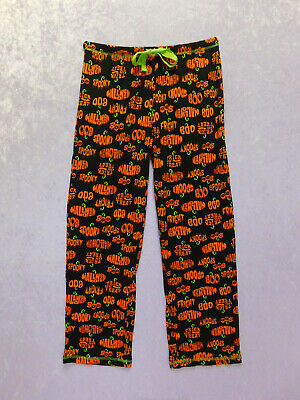 Halloween Lounge Pants (Ladies Halloween Pumpkin Trick Or Treat Spooky Lounge Pajama)