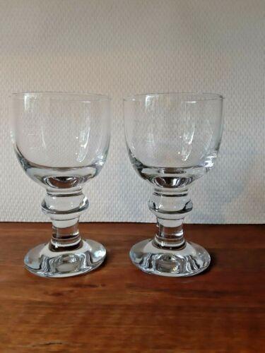 Set of 2 BEER Danish Hunter Glasses PER LUTKEN HOLMEGAARD 1974 - 1990. Signed.