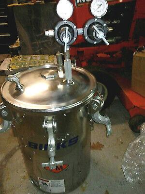 Binks- 183s-520 5 Gallon Stainless Steel Asme Pressure Paint Spray Tank