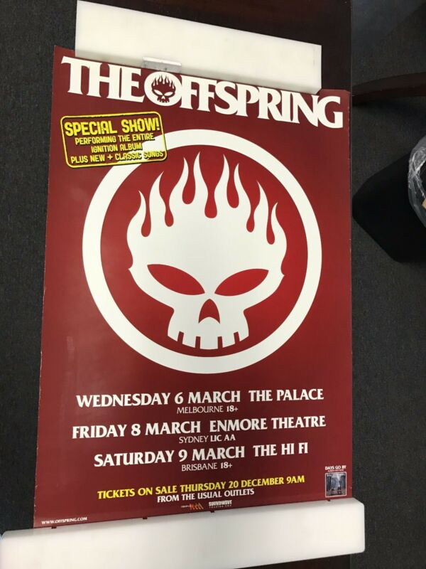 """THE OFFSPRING DAYS GO BY PROMOTIONAL POSTER 16.5"""" X 23.25"""""""