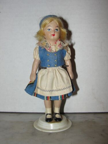 """VINTAGE COMPOSITION / CLAY? 6"""" DOLL"""
