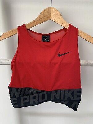 Nike Dri-fit Crop Top Red XS 6-8