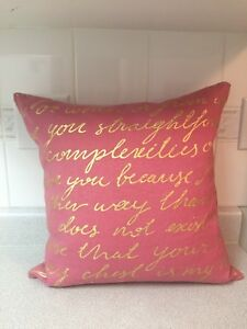 NEW rose pink love letter throw pillow