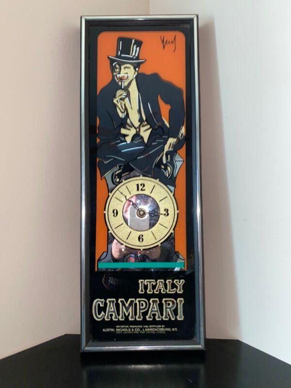 Vintage Italy Campari Italian Mirrored Clock~Austin, Nichols & Co Kentucky