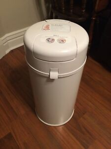 Bubula Steel Diaper Pail, White