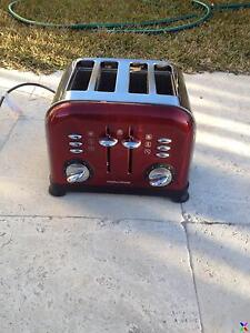 Morphy Richards Metallic Red Accents 4 Slice Toaster Seaforth Manly Area Preview