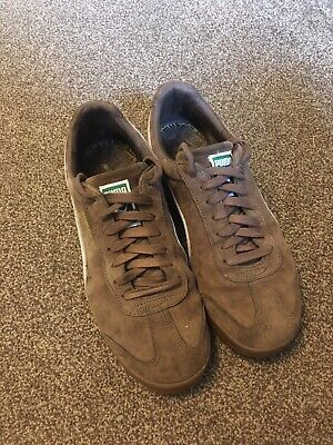 Puma Roma mens brown suede trainers size 10